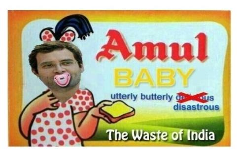 Rahul Gandhi - Amul Baby