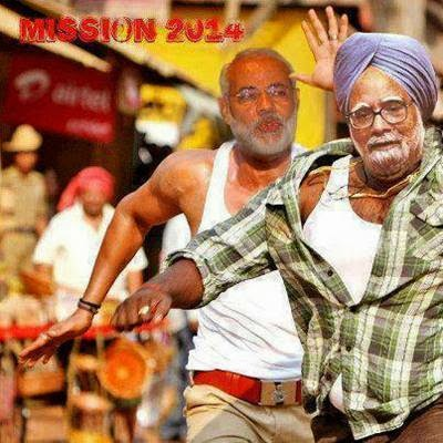 Modi Vs. Manmohan Singh in Mission 2014