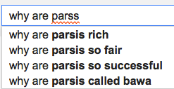 why are parsis