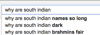 why are south indian